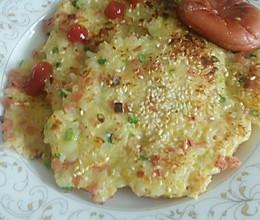 消灭剩饭  米饭煎饼的做法