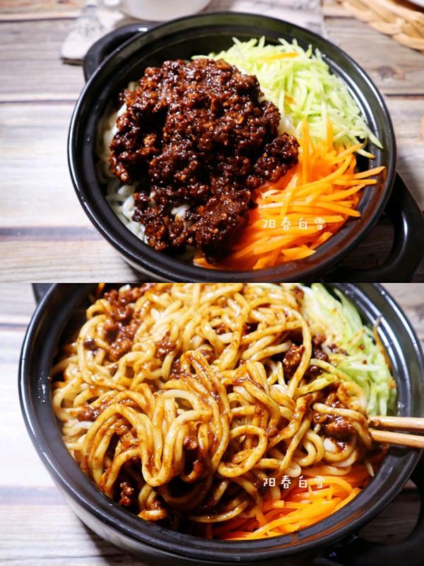 能吃一大碗的炸酱面❗️(京味)下饭肉丁捞面条的做法
