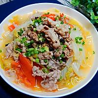 白菜煮羊肉卷