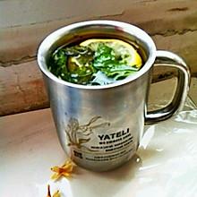 解决嗓子疼之——柠檬薄荷茶