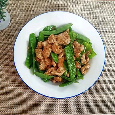 醋肉炒荷兰豆