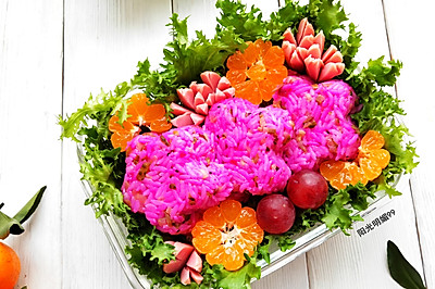 酸黄瓜花朵便当