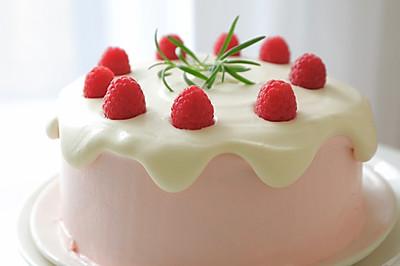【视频】树莓奶油 滴落蛋糕