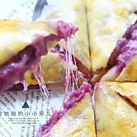 外脆内软爆浆紫薯芝士饼,超级拉丝还爆浆的做法图解14