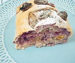 芋泥紫薯麻薯欧包(详细教程)的做法