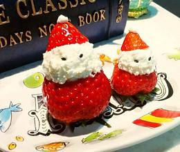 草莓雪人的做法