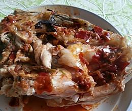 乐乐自家菜---蒸胖头鱼鱼头的做法