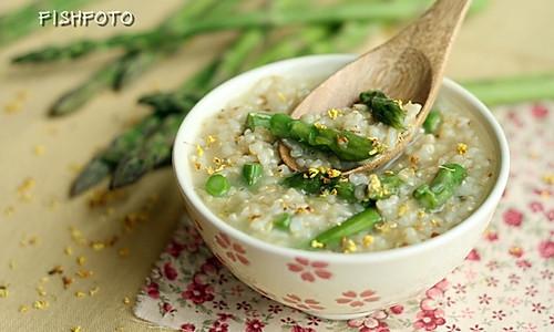 桂花芦笋糙米粥的做法