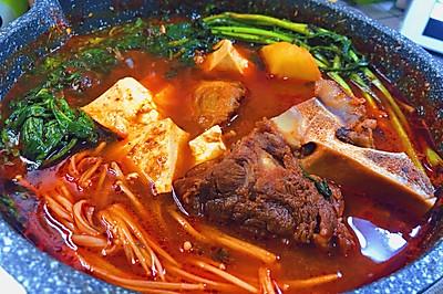 韩式辣牛脊骨汤