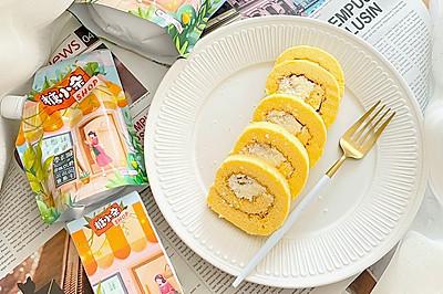 0卡糖椰蓉奶油蛋糕卷