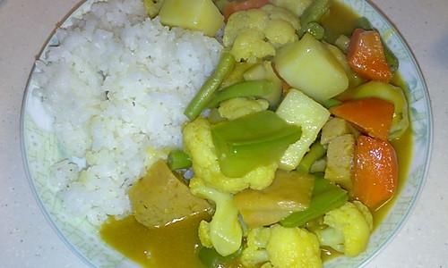 咖喱什锦蔬菜饭的做法