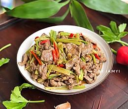 #好吃不上火# 芹菜炒牛肉的做法