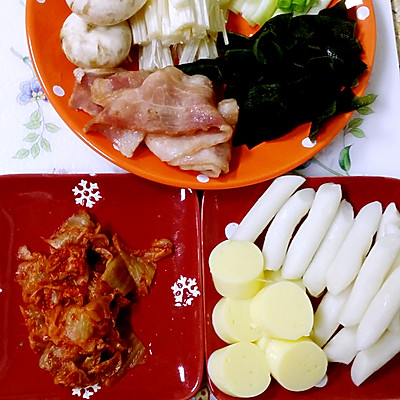 冬日里暖暖~泡菜汤的做法 步骤1