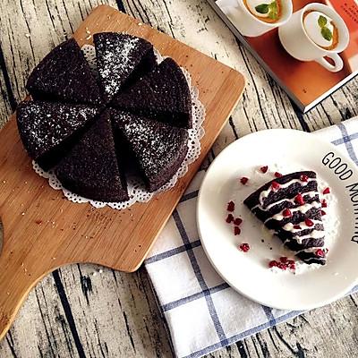 【无烤箱版】黑米蛋糕