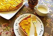 卡仕达酱黄桃派的做法