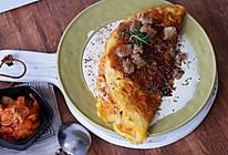 奶油芝士黑椒酱牛肉粒蛋包饭的做法
