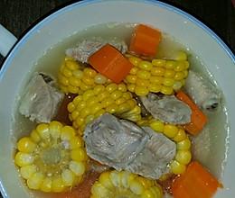 排骨玉米胡萝卜汤的做法