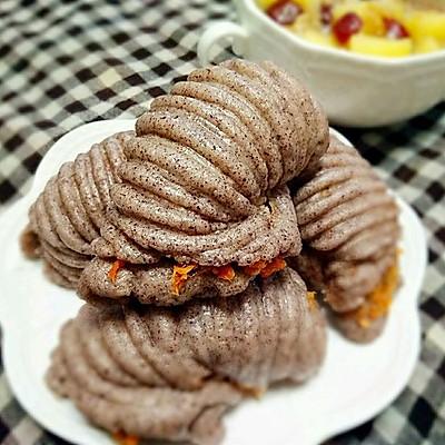 黑米肉松海螺卷