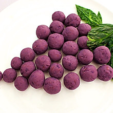 奶香蜂蜜紫薯球
