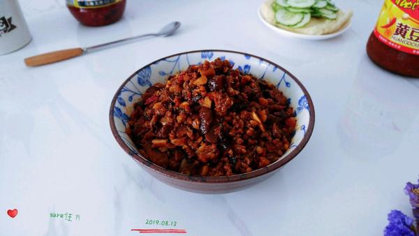 辣豆甜果菇肉酱的做法