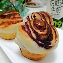 #全电厨王料理挑战赛热力开战!#奶香紫薯花朵小面包