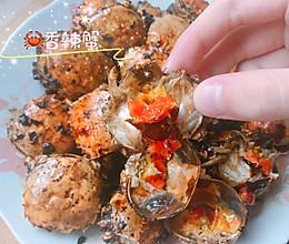吮指香辣蟹~一元钱母蟹做成的哦的做法