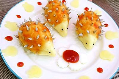 #安佳儿童创意料理#土豆泥刺猬
