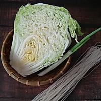家常下饭菜--白菜炒粉条的做法图解1