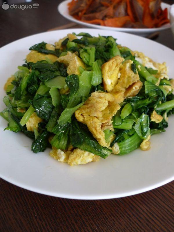 鸡蛋炒油菜的做法