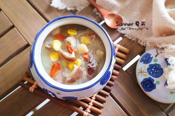 干贝萝卜猪肚汤的做法