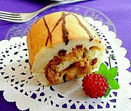 条纹肉松蛋糕卷的做法