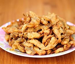 干炸蘑菇最家常做法 外酥里嫩鲜香可口 撒上椒盐竟然能吃出肉味的做法