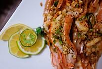 蒜蓉柠檬虾的做法