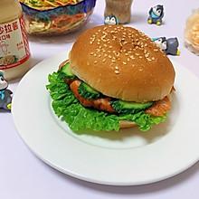 #321沙拉日#奥尔良鸡肉汉堡