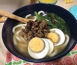 芽菜肉沫日式味噌乌冬面的做法