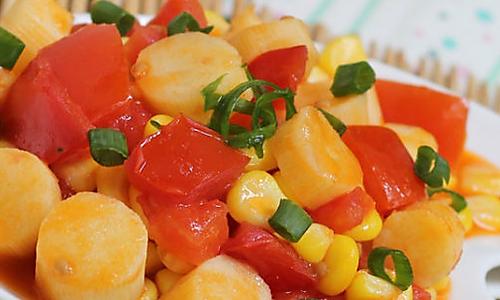 番茄山药玉米粒的做法