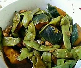 豆角炖倭瓜炖肉的做法