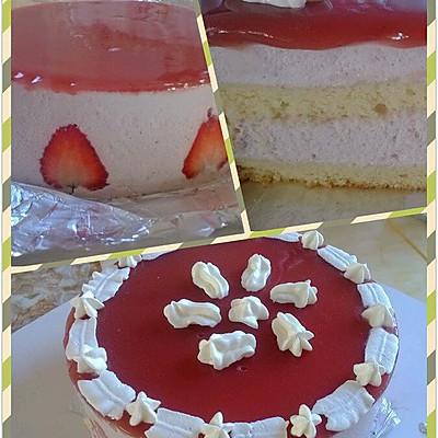 草莓慕斯蛋糕(六寸)