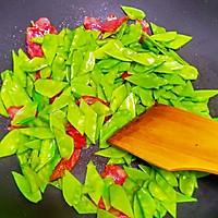 腊味荷兰豆的做法图解4