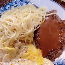 #美食视频挑战赛#自制黑椒汁牛排
