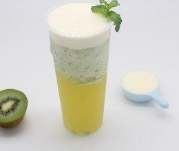 奇异果雪绒,高颜值奶盖茶的做法