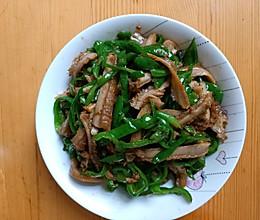 青椒炒牛肚的做法