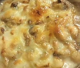 芝士焗土豆蘑菇的做法