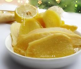 冰爽夏吃姜,蜂蜜柠檬味