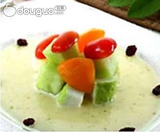 冰白玉水果沙拉的做法