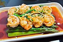 豉油芦笋虾仁的做法