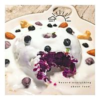宿舍党早餐—紫薯酸奶淋