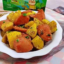 #巨下饭的家常菜#油炸土豆火腿肠