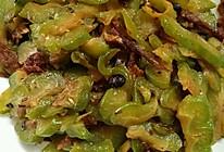 苦瓜炒豆豉鲮鱼的做法