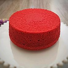 #憋在家里吃什么#红丝绒戚风蛋糕,柔软的就像爱情